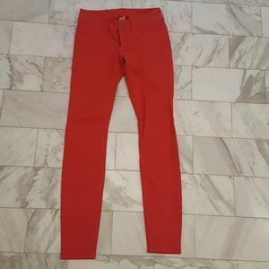 London Jean coral, size 2 Victoria's Secret